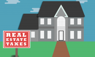image of a home - links to tax bill web page